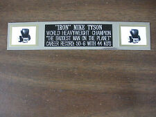 """IRON"" MIKE TYSON (BOXING) NAMEPLATE FOR SIGNED GLOVES/TRUNKS/PHOTO DISPLAY"