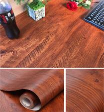 Brown Wood Grain Contact Paper Self Adhesive Shelf Liner Drawer Shelves Sticker
