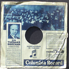 Pochette 78 trs / 78 RPM Cover/sleeve Columbia Beecham - Bernard Partridge VG+