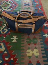 BELDING ASHWORTH LEATHER CANVAS DUFFLE BAG CARRY ON GOLF TRAVEL USA $285