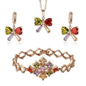 Rainbow Bracelet Earrings Pendant Set Wholesale Job Lot 25Pcs UK