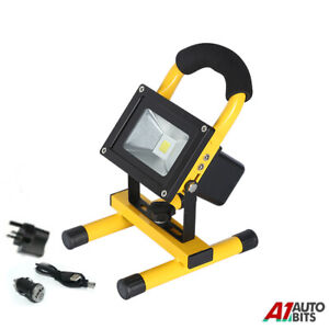 10W LED Rechargeable Cordless Work Site Flood Light Mobile Portable Camping Lamp