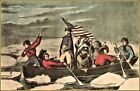 Currier & Ives: Washington Crossing The Delaware  Art Print