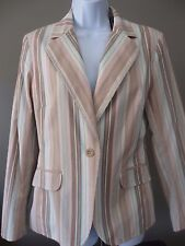 NWT NEW YORK & COMPANY Striped Blazer Size 8 Women's Lined