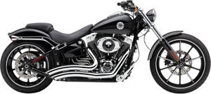 Cobra Chrome 2-2 Short Swept Motorcycle Exhaust 2013-2017 Harley Breakout FXSB