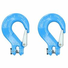 Clevis Sling Hook Safety Catch Max Lifting Capacity 2 Ton For 8mm Chain 2pk