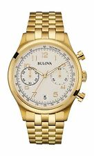 Bulova Men's 97B149 Classic Chronograph Yellow Gold Stainless Steel Dress Watch