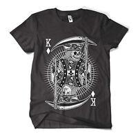 Skull King T Shirt Fashion Print Indie Hipster Design Mens Girls Tee Top New