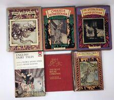 ARTHUR RACKHAM Lot 6 Hardcover Fairy Tales 6 HB Cinderella Sleeping Beauty