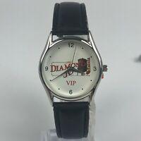 DiMaggio Mens Diamond VIP Casino Vintage Stainless Steele Japan Movement Watch