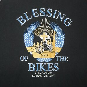 Blessing of the Bikes 2005 Black Graphic Tank Top Size XL Motorcycle Michigan
