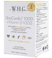UnoCardio 1000  Vitamin D 1000, 60 Softgels