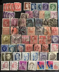 Briefmarken USA Kanada Sammlung Konvolut 60 Stück