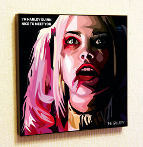 Harley Quinn pop Art Poster Painting Print Quote Suicide Squad Marvel DC