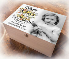 Mothers day present, Large wooden box, memory keepsake gift, Personalised design