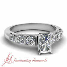 Not Enhanced Very Good Radiant SI1 Diamond Engagement Rings
