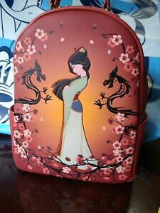 Disney Loungefly Mulan Floral Branches Mini Backpack NWT