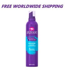 Aussie Instant Freeze Mousse 24 Hour Maximum Hold 6 Oz WORLDWIDE SHIPPING