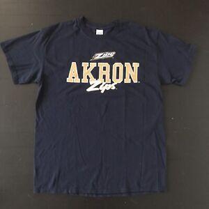 NCAA University Of Akron Zips Blue T-Shirt Mens Large