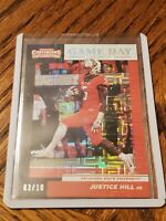 2019 Contenders Game Day Ticket Justice Hill OSU Rookie # 03/10 Baltimore Ravens