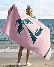 "Lacoste Murphy Cotton 36"" x 72"" Beach Towel Pink Palm Alligator"