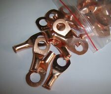 """(2) Wire Ring Terminal Copper 8 AWG Gauge 5/16"""" Connectors Car Audio Terminals"""
