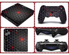 Sony Playstation 4 PS4 Slim Skin Schutzfolie Aufkleber Sticker Set Jordan Armor