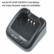 BC-160 Charger Li-ion Base no power supply for ICOM A14 A14S IC-F14 IC-F16
