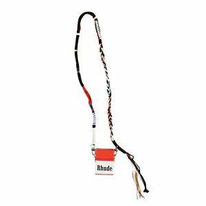 NWT RHUDE White/Red Leather 'Fumar Mal' Crossbody Bag $920