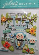 JOLEE'S BOUTIQUE BABY BOY MY LITTLE MONKEY Scrapbook Sticker Embellishment