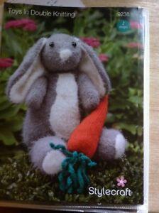 Stylecraft Toys Eskimo Kisses DK 9238 Knitting Pattern Rabbit Carrot Baby Toy