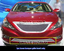 Fit:2011-2012 Hyundai Sonata Bumper Stainless Steel Mesh Grille Grill