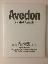 RICHARD AVEDON, Private view invitation card, Gagosian gallery, 2012