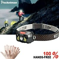 50000LM Induction LED Headlight Head Lamp USB Rechargeable Torch Fishing Light