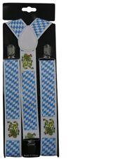 Costume Halloween Fancy Dress Oktoberfest German Beer Braces Suspenders