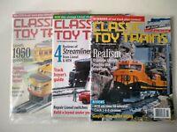 Classic Toy Trains Magazine, Mar, Nov, Dec 2000 - Lot of 3
