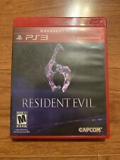 Resident Evil 6 PS3 Playstation 3 Greatest Hits Capcom Video Game