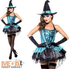 Fever Witch Devine Ladies Fancy Dress Halloween Spooky Womens Adults Costume
