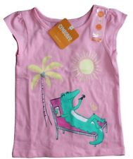 Gymboree Toddler Girls Pink Alligator Accent Cap Tank Top New tags Size 18-24mon