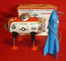 1960s vintage Rocket Moon Explorer toy Fairlite,(Yonezawa)  product video inc