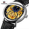 FORSINING Sports Moon Phase Dial Automatic Mechanical Leather Men's Wrist Watch