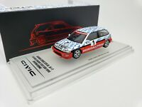 1:64 INNO64 Honda Civic EF9 SiR Gr.N Suzuka Circuit Ayrton Senna Test Car 1990#1