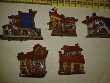 5 casette scenografia plastic minuterie presepe miniature nativity scene pastori