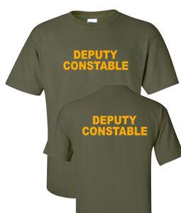 Deputy Constable  Law enforcements T shirts S-5XL