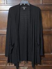 Style & Co XL Black Super Soft Lightweight Open Front Knit Sweater Jacket Pocket