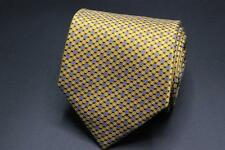 Recent ERMENEGILDO ZEGNA Silk Tie. Yellow w Mini Blue Geometric.