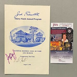 Sandy Koufax Joe Sewell & Dick Hall Signed 1978 HOF Museum Program JSA COA