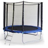 Cama elástica de 305 cm 10ft con red, trampolín con escalera y red de seguridad