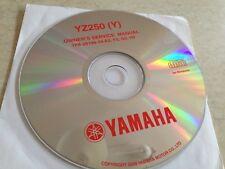 Yamaha YZ250 YZ 250 ( Y ) 2009 Workshop Service manual manuel atelier CD pdf