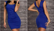 Women Casual Short Mini Dress Cocktail Party Evening Bodycon Sleeveless S 2A-39